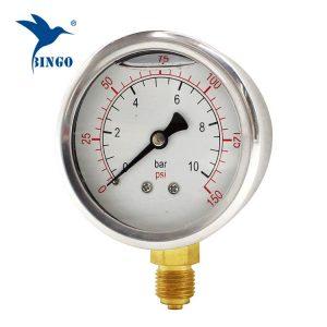 60mm зэвэрдэггүй ган хэрэг гуулин холболтын доод төрөл даралт хэмжигч 150PSI газрын тосны дүүрэн даралт хэмжигч